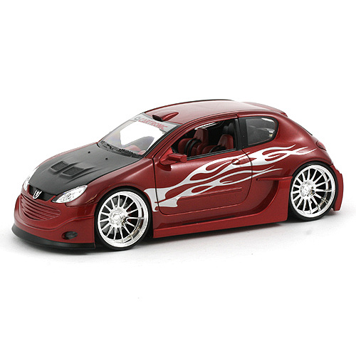 Automobil 1 : 24, Welly Peugeot 206 Tuning červený
